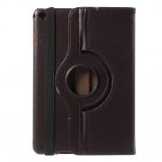 360-degree Rotating Stand Lychee Leather Case for iPad mini 4 - Coffee