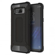 Armor Guard Plastic + TPU Hybrid Case for Samsung Galaxy Note 8 - Black
