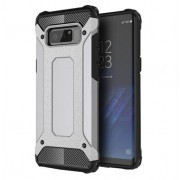 Armor Guard Plastic + TPU Hybrid Phone Protection Casing for Samsung Galaxy Note 8 - Grey