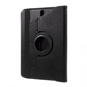 Περιστρεφόμενη Δερμάτινη Θήκη Βιβλίο με Βάση Στήριξης για Samsung Galaxy Tab S3 9.7 T820 - Μαύρο