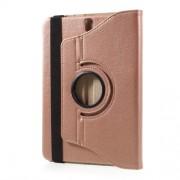Περιστρεφόμενη Δερμάτινη Θήκη Βιβλίο με Βάση Στήριξης για Samsung Galaxy Tab S3 9.7 T820 - Ροζέ Χρυσαφί