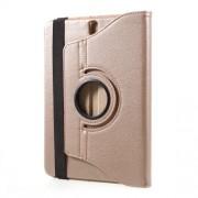 Περιστρεφόμενη Δερμάτινη Θήκη Βιβλίο με Βάση Στήριξης για Samsung Galaxy Tab S3 9.7 T820 - Χρυσαφί