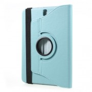 Περιστρεφόμενη Δερμάτινη Θήκη Βιβλίο με Βάση Στήριξης για Samsung Galaxy Tab S3 9.7 T820 - Γαλάζιο