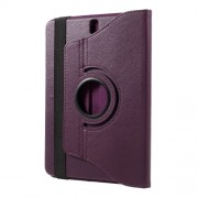 Περιστρεφόμενη Δερμάτινη Θήκη Βιβλίο με Βάση Στήριξης για Samsung Galaxy Tab S3 9.7 T820 - Μωβ