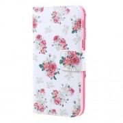 Printing Pattern Wallet Leather Flip Cover Case for Samsung Galaxy A5 2017 - Blooming Peonies