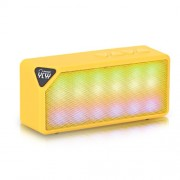 X3S Wireless Portable Mini Bluetooth Speaker Box TF Card with Mic - Yellow