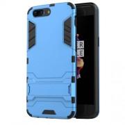Υβριδική Θήκη Συνδυασμού Σιλικόνης TPU και Πλαστικού με Βάση Στήριξης για OnePlus 5 - Μπλε