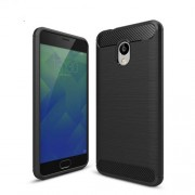 Carbon Fibre Brushed TPU Case for Meizu M5s - Black
