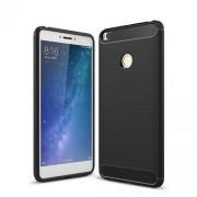 Carbon Fiber Texture Brushed TPU Back Case for Xiaomi Mi Max 2 - Black