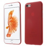 0.3mm Ultra Thin Hard Case Cover for iPhone 7 4.7 Inch - Red