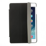 Tri-fold Stand Leather Cover + Rubberized PC Back Case for iPad Mini / iPad Mini Retina - Black
