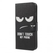 Δερμάτινη Θήκη Πορτοφόλι με Βάση Στήριξης για Samsung Galaxy J5 (2017) Ευρωπαϊκή Έκδοση - Do not Touch My Phone