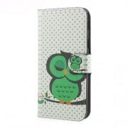 Δερμάτινη Θήκη Πορτοφόλι με Βάση Στήριξης για Samsung Galaxy J5 (2017) Ευρωπαϊκή Έκδοση - Πράσινη Κοιμισμένη Κουκουβάγια