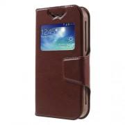 Universal Δερμάτινη Θήκη Βιβλίο Smart Cover με Βάση Στήριξης, Διαστάσεις: 125 x 62 x 10mm - Καφέ