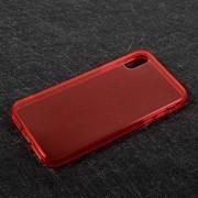 Θήκη Σιλικόνης TPU Ημιδιάφανη για iPhone X - Κόκκινο