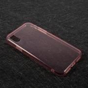 Θήκη Σιλικόνης TPU Ημιδιάφανη για iPhone X - Ροζ