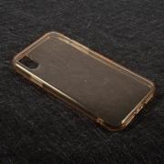 Θήκη Σιλικόνης TPU Ημιδιάφανη για iPhone X - Χρυσαφί