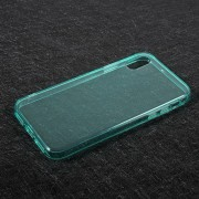 Θήκη Σιλικόνης TPU Ημιδιάφανη για iPhone X - Γαλαζοπράσινο