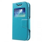 Universal Δερμάτινη Θήκη Βιβλίο Smart Cover με Βάση Στήριξης, Διαστάσεις: 125 x 62 x 10mm - Μπλε