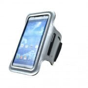 Silver Sports Workout Gym Brushed Armband Case for Samsung Galaxy S5 G900 / S4 I9500 / S3 I9300