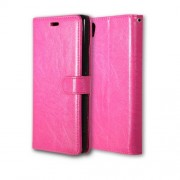 Wallet 3 Card Slots Crazy Horse PU Leather Case for Sony Xperia XA Ultra - Rose