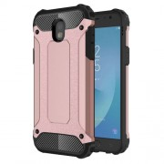 Armor Guard Plastic + TPU Hybrid Mobile Phone Case for Samsung Galaxy J5 (2017) EU Version - Rose Gold
