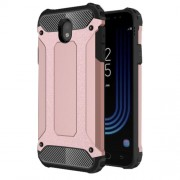 Armor Guard Plastic + TPU Hybrid Mobile Phone Case for Samsung Galaxy J7 (2017) EU Version - Rose Gold