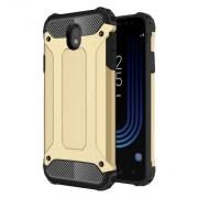 Armor Guard PC + Soft TPU Hybrid Cell Phone Shell for Samsung Galaxy J7 (2017) EU Version - Gold