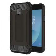 Armor Guard Plastic + TPU Hybrid Case for Samsung Galaxy J3 (2017) EU Version - Black