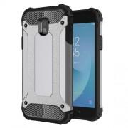 Armor Guard Plastic + TPU Hybrid Mobile Phone Cover for Samsung Galaxy J3 (2017) EU Version - Grey