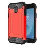 Armor Guard Plastic + TPU Hybrid Cell Phone Case Cover for Samsung Galaxy J3 (2017) EU Version - Red