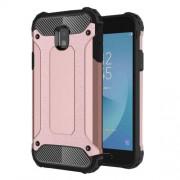 Armor Guard Plastic + TPU Hybrid Phone Casing for Samsung Galaxy J3 (2017) EU Version - Rose Gold