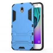 Υβριδική Θήκη Συνδυασμού Σιλικόνης και Πλαστικού με Βάση Στήριξης για Samsung Galaxy J7 (2017) Ευρωπαϊκή Έκδοση - Γαλάζιο