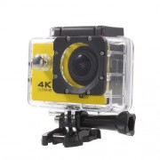 QUANZHI V3 2inch Ultra HD 16MP WiFi 170-degree Wide Angle Waterproof 4K Action Camera - Yellow