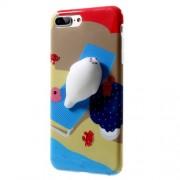 Θήκη Σιλικόνης TPU Σχέδιο 3D για iPhone 7 Plus - Μοτίβο Παραλίας