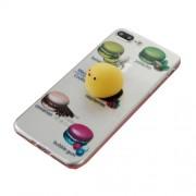 Θήκη Σιλικόνης TPU Σχέδιο 3D για iPhone 7 Plus - Macaroon