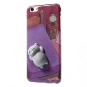 Θήκη Σιλικόνης TPU Σχέδιο 3D για iPhone 6s Plus / 6 Plus - Γατούλα Ξαπλωμένη σε Κρεβάτι