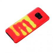 Μαλακή Θήκη με Όψη Δέρματος που Αλλάζει Χρώμα Ανάλογα τη Θερμότητα για Samsung Galaxy S8 Plus SM-G955 - Κόκκινο