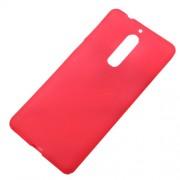 Θήκη Σιλικόνης TPU Ματ για Nokia 5 - Κόκκινο