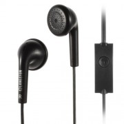 Langston Q1 3.5mm Stereo Earphone Headset w/ Mic for iPhone iPad Samsung HTC - Black