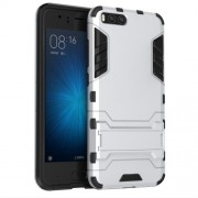Cool Guard Plastic TPU Hybrid Cover with Kickstand for Xiaomi Mi 6 - Silver