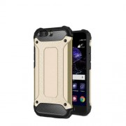 Armor Guard Plastic + TPU Hybrid Protective Case for Huawei P10 Plus - Gold
