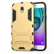 Θήκη Σιλικόνης TPU σε Συνδυασμό με Πλαστικό και Βάση Στήριξης για Samsung Galaxy J5 (2017) Ευρωπαϊκή Έκδοση - Χρυσαφί