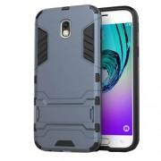 Θήκη Σιλικόνης TPU σε Συνδυασμό με Πλαστικό και Βάση Στήριξης για Samsung Galaxy J5 (2017) Ευρωπαϊκή Έκδοση - Σκούρο Μπλε