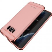 IPAKY 3 σε 1 Electroplating Θήκη Σκληρή για Samsung Galaxy S8 Plus G955 - Ροζέ Χρυσαφί