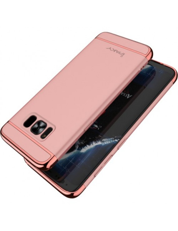 new products 9aed8 67ddc IPAKY 3-in-1 Electroplated PC Mobile Case for Samsung Galaxy S8 Plus G955 -  Rose Gold (50010129) by stoucky.gr