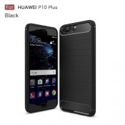 Carbon Fibre Brushed TPU Case for Huawei P10 Plus - Black