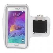 Θήκη Βραχίονα για Σπορ για Κινητά όπως Samsung Galaxy Note 4 N910 / Note 3 N9000 / Galaxy A7 SM-A700F - Λευκό