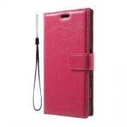 Δερμάτινη Θήκη Πορτοφόλι με Βάση Στήριξης για Sony Xperia XZs / XZ - Φούξια