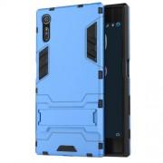 Υβριδική Θήκη Συνδυασμού Σιλικόνης TPU και Πλαστικού με Βάση Στήριξης για Sony Xperia XZs / XZ - Γαλάζιο